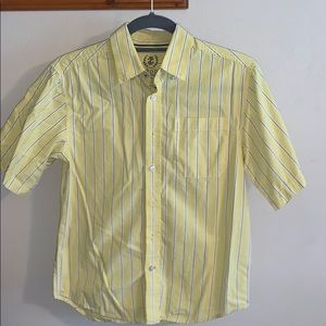 Yellow stripes button up